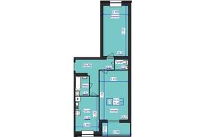 ЖК Олімпійський: планування 2-кімнатної квартири 72.49 м²