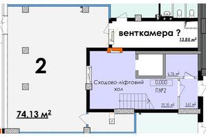 ЖК Олимп: планировка помощения 74.13 м²
