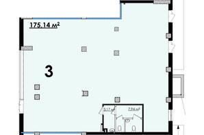 ЖК Олимп: планировка помощения 175.14 м²