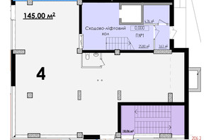 ЖК Олимп: планировка помощения 145 м²