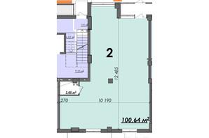ЖК Олимп: планировка помощения 100.64 м²