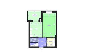 ЖК Олимпийский: планировка 3-комнатной квартиры 106 м²