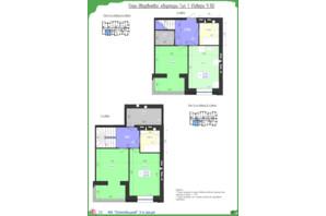 ЖК Олимпийский: планировка 3-комнатной квартиры 85.89 м²