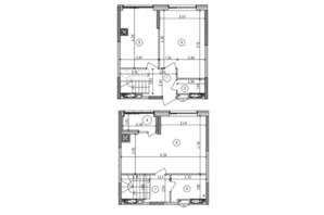 ЖК Оптимісто: планировка 2-комнатной квартиры 70.93 м²