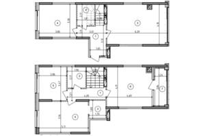 ЖК Оптимісто: планировка 4-комнатной квартиры 109.54 м²