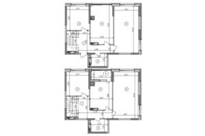 ЖК Оптимісто: планировка 5-комнатной квартиры 123.28 м²