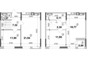 ЖК Оптимісто: планировка 3-комнатной квартиры 82 м²