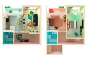 ЖК Orange Park: планировка 3-комнатной квартиры 79 м²