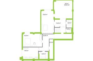 ЖК Оселя парк: планировка 4-комнатной квартиры 175.1 м²