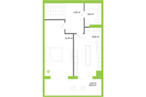 ЖК Оселя парк: планировка 2-комнатной квартиры 84.6 м²