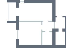 ЖК Озерки: планировка 2-комнатной квартиры 47.9 м²