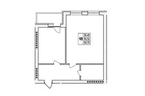 ЖК Озерний: планировка 2-комнатной квартиры 59.7 м²