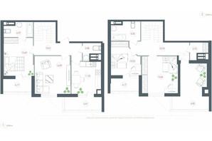 ЖК Озерний гай Гатне: планування 4-кімнатної квартири 124.69 м²
