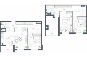 ЖК Озерний гай Гатне: планування 4-кімнатної квартири 117.22 м²