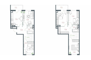 ЖК Озерний гай Гатне: планування 5-кімнатної квартири 137.72 м²