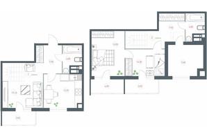 ЖК Озерний гай Гатне: планування 3-кімнатної квартири 105.22 м²