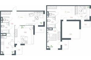 ЖК Озерний гай Гатне: планування 4-кімнатної квартири 131.37 м²