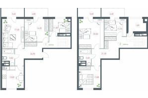 ЖК Озерний гай Гатне: планування 6-кімнатної квартири 182.35 м²