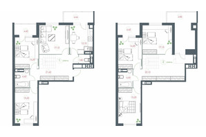 ЖК Озерний гай Гатне: планування 6-кімнатної квартири 177.77 м²