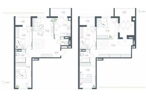 ЖК Озерний гай Гатне: планування 6-кімнатної квартири 170.71 м²