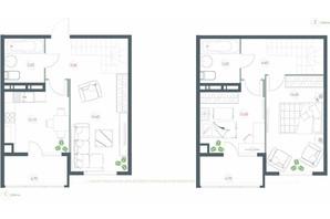 ЖК Озерний гай Гатне: планування 3-кімнатної квартири 91.1 м²