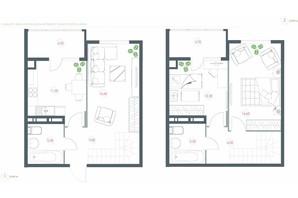 ЖК Озерний гай Гатне: планування 3-кімнатної квартири 90.9 м²