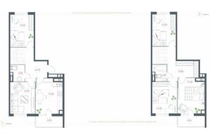 ЖК Озерний гай Гатне: планування 5-кімнатної квартири 137.48 м²