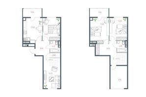 ЖК Озерний гай Гатне: планування 4-кімнатної квартири 117.64 м²