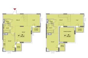 ЖК Озерный гай Гатное: планировка 4-комнатной квартиры 131.37 м²