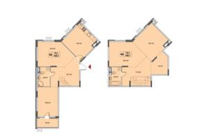 ЖК Озерный гай Гатное: планировка 4-комнатной квартиры 146.1 м²
