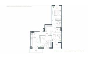 ЖК Озерный гай Гатное: планировка 3-комнатной квартиры 92.34 м²