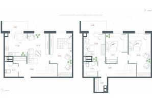 ЖК Озерный гай Гатное: планировка 5-комнатной квартиры 127.04 м²
