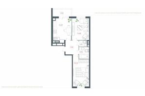 ЖК Озерный гай Гатное: планировка 2-комнатной квартиры 65.93 м²