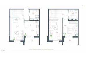 ЖК Озерный гай Гатное: планировка 3-комнатной квартиры 86.04 м²