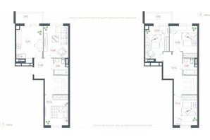 ЖК Озерный гай Гатное: планировка 5-комнатной квартиры 123.65 м²