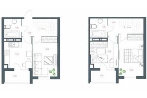 ЖК Озерный гай Гатное: планировка 3-комнатной квартиры 91.5 м²