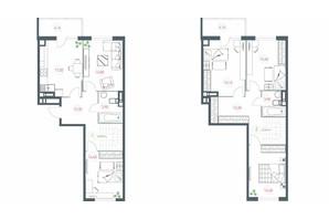 ЖК Озерный гай Гатное: планировка 5-комнатной квартиры 137.72 м²