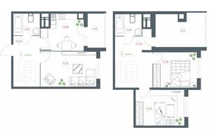 ЖК Озерный гай Гатное: планировка 3-комнатной квартиры 89.82 м²