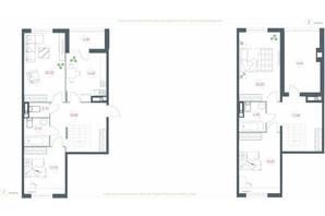 ЖК Озерный гай Гатное: планировка 4-комнатной квартиры 138.74 м²