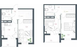 ЖК Озерный гай Гатное: планировка 3-комнатной квартиры 90.9 м²