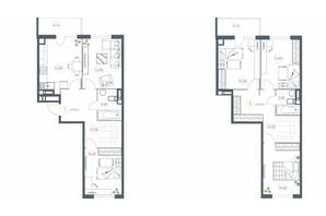 ЖК Озерный гай Гатное: планировка 5-комнатной квартиры 137.02 м²