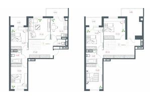 ЖК Озерный гай Гатное: планировка 6-комнатной квартиры 177.77 м²