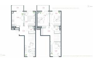 ЖК Озерный гай Гатное: планировка 5-комнатной квартиры 135.36 м²