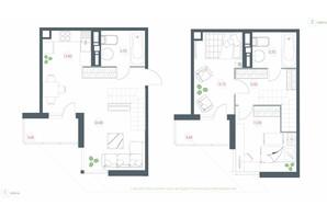 ЖК Озерный гай Гатное: планировка 3-комнатной квартиры 86.66 м²