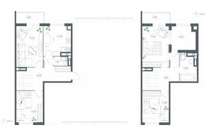 ЖК Озерный гай Гатное: планировка 4-комнатной квартиры 116.44 м²