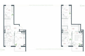 ЖК Озерный гай Гатное: планировка 5-комнатной квартиры 137.48 м²