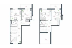 ЖК Озерный гай Гатное: планировка 4-комнатной квартиры 114.21 м²