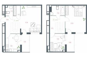 ЖК Озерный гай Гатное: планировка 3-комнатной квартиры 95.92 м²