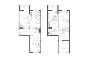 ЖК Озерный гай Гатное: планировка 4-комнатной квартиры 130.14 м²