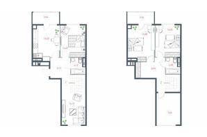 ЖК Озерный гай Гатное: планировка 4-комнатной квартиры 116.36 м²